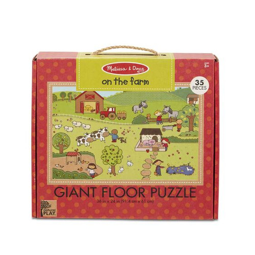 On the Farm Floor Puzzle Green