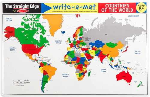 Countries of the World Write-a-Mat (In-Store Pickup Only)