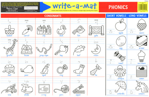 Phonics Write-A-Mat