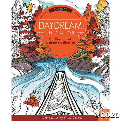 Image of Seasons Daydream in Color Coloring Book cover art