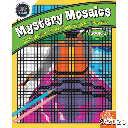 Image of Mystery Mosaics Coloring Book #9 cover art