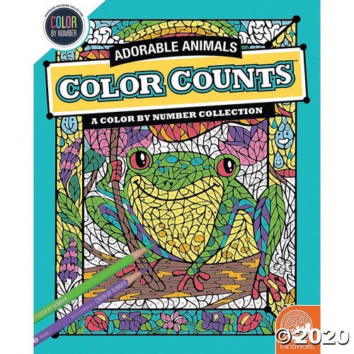 Image of Color Counts Adorable Animals Coloring Book cover art
