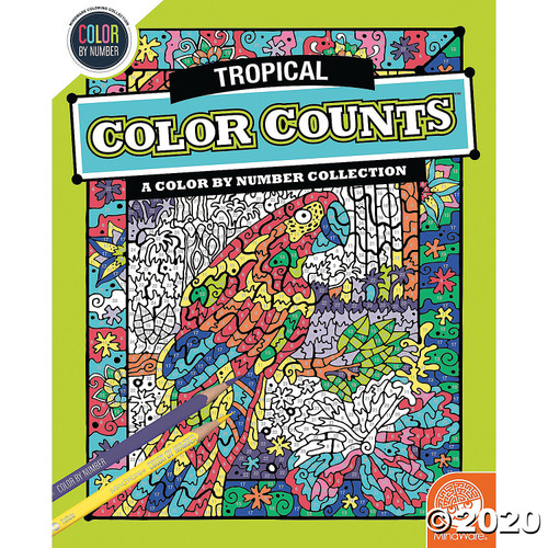 Image of Color Counts Tropical Coloring Book cover art