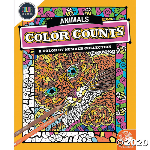 Image of Color Counts Animals Coloring Book cover art