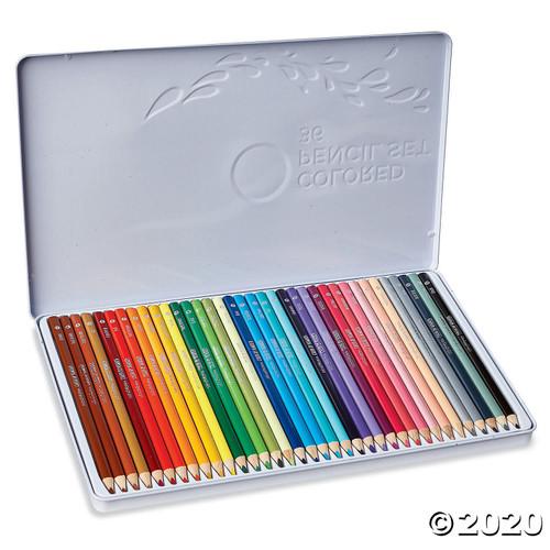 Image of Colored Pencils Triangular 36 tin
