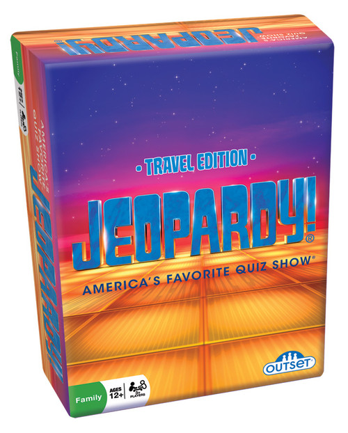 Image of Jeopardy! Card Game packaging