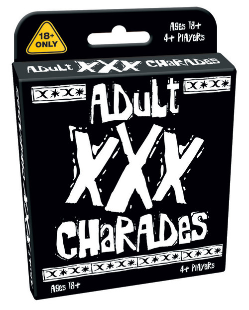 Image of XXX Charades Card Game packaging