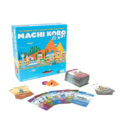 Image of Machi Koro box with contents displayed
