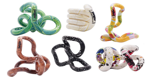 Image of all six Tangle Jr. Artist Series tangles