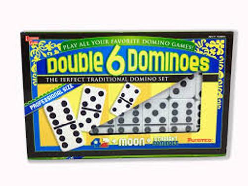 Double Six Black Dots Professional Size