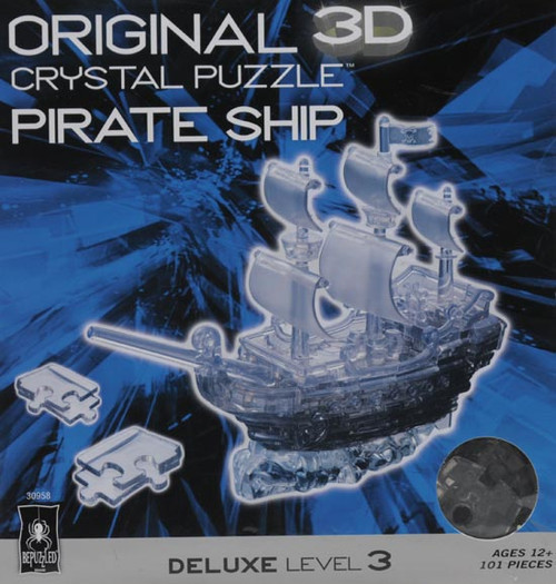Pirate Ship Black Crystal 3D Puzzle