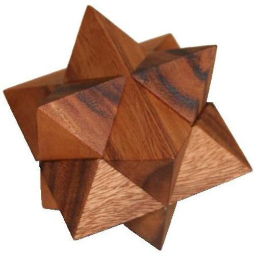Star Wooden brain Teaser Puzzle