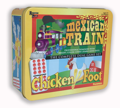Mexican Train & Chickenfoot Dominoes