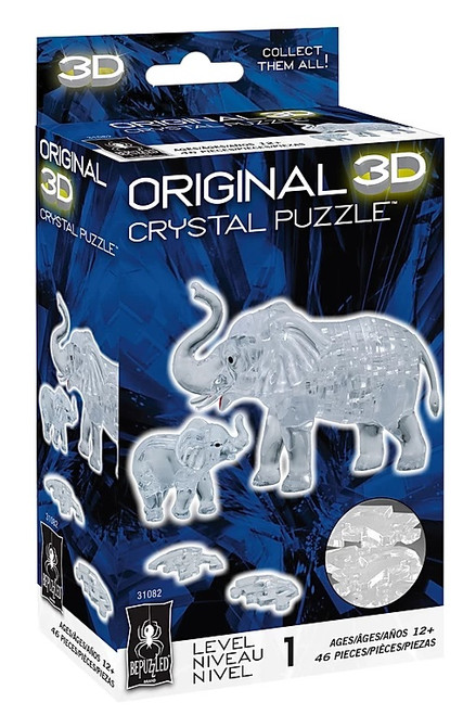 Elephant & Baby Crystal 3D Puzzle