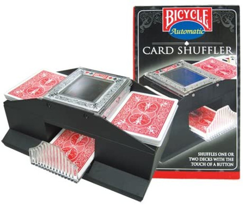 Image of card shuffler and packaging