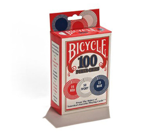 Image of Bicycle's 2g 100ct plastic poker chips box