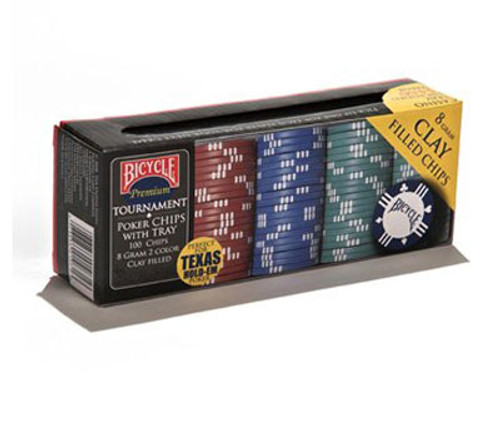 Image of Bicycle's 8g 100ct clay poker chips box