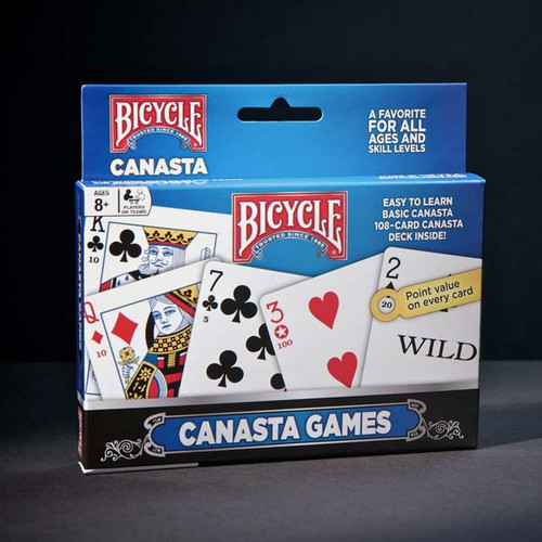 Image of Bicycle's Canasta deck set packaging.