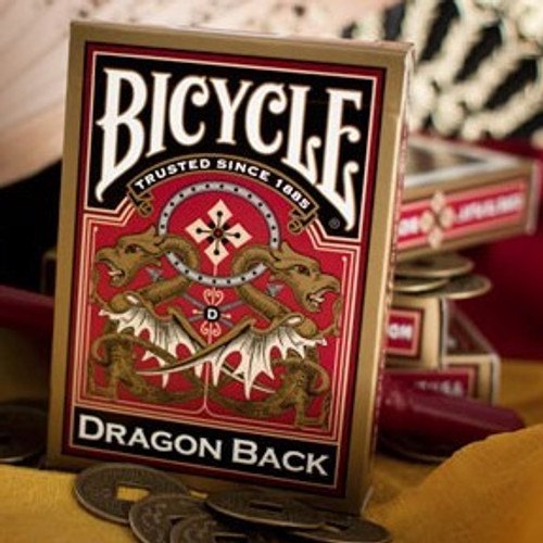 Image of Bicycle's Dragon Gold deck packaging
