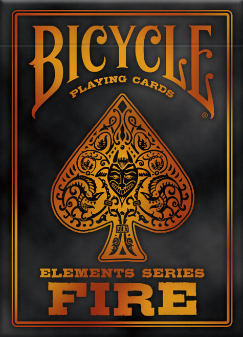 Image of Bicycle's Fire deck packaging