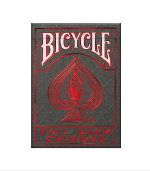 Cards: Bicycle MetalLuxe Red (new) box image