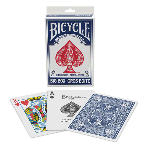 Cards: Bicycle Big Box Red/Blue mix blue image
