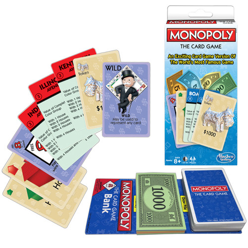 Monopoly box and some of the cards