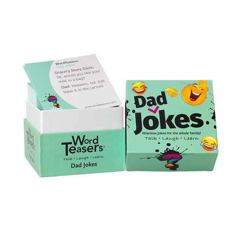 Dad Joke Word Teaser box and cards