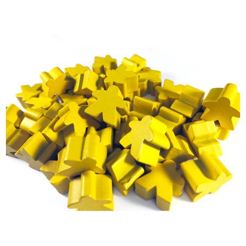 Yellow Wooden Meeples (50)