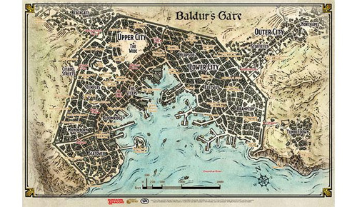 Dungeons & Dragons Baldur's Gate Descent into Avernus: Baldur's Gate Map