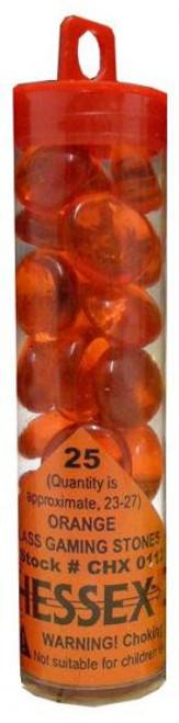 glass orange stones