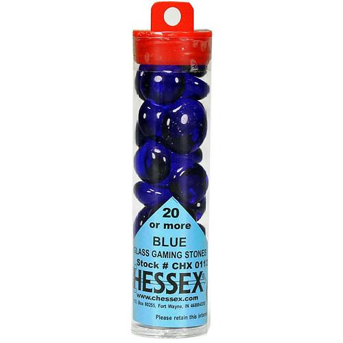 image of blue glass stone tube
