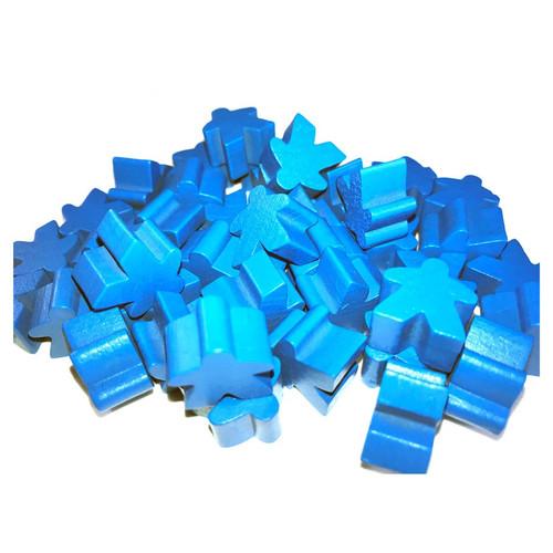 Blue Wooden Meeples (50)