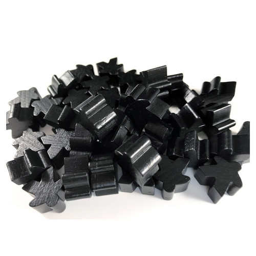 Black Wooden Meeples (50)