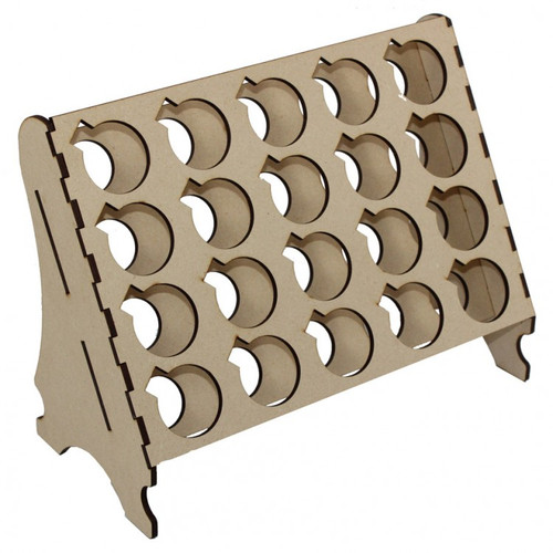 Hinged-Top Paint Pot Rack