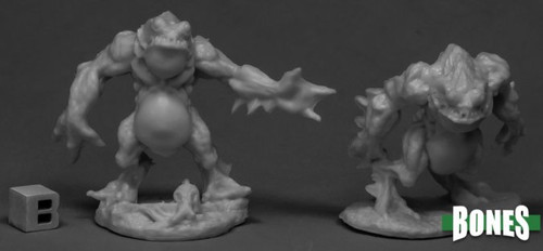 Image of Reaper's two different Deep Ones Warriors minis