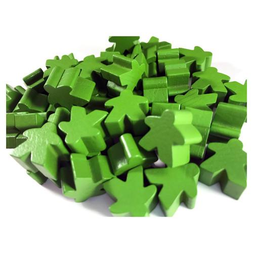 Green Wooden Meeples (50)