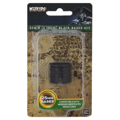 WZK DC: Black 25mm Round Base (15ct.)