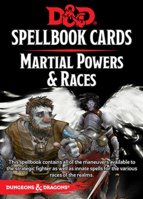 Dungeons & Dragons Spellbook Cards: Martial & Race Deck