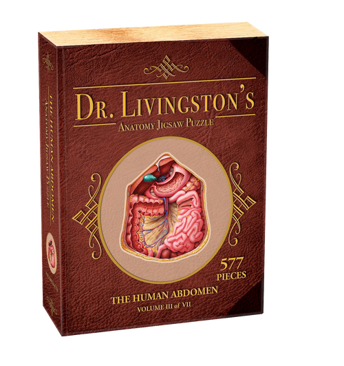 Image of Dr. Livingston's Jigsaw Puzzle: Human Abdomen box