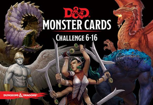 Dungeons & Dragons Challenge Rating 6-16 Monster Cards