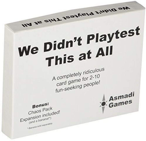 We Didn't Playtest This at All box