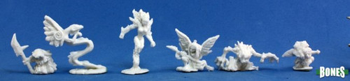 Image of the collected minis included in the Familiars 2 pack from Reaper