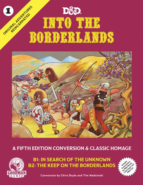 Image of cover for Into the Borderlands Dungeons and Dragons adventure