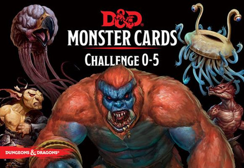 Dungeons & Dragons Challenge Rating 0-5 Monster Cards