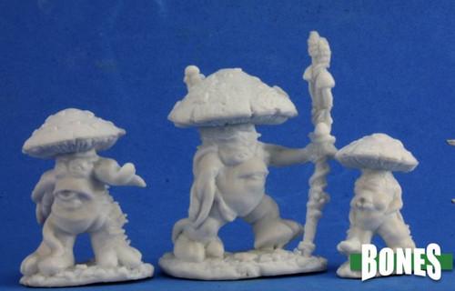 Image of Reaper's Mushroom Men minis, front view