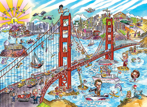 San Francisco Doodletown 1000pc imageg