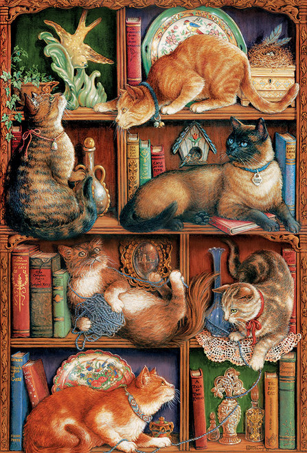 Feline Bookcase 2000pc image