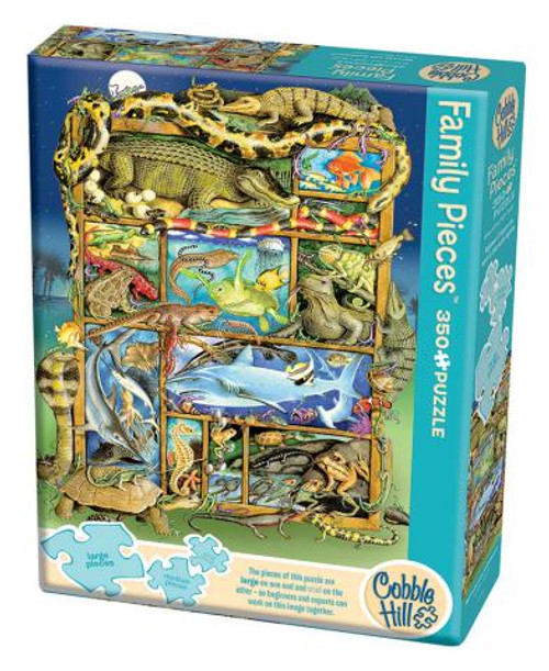 Reptiles and Amphibians 350pc Family box