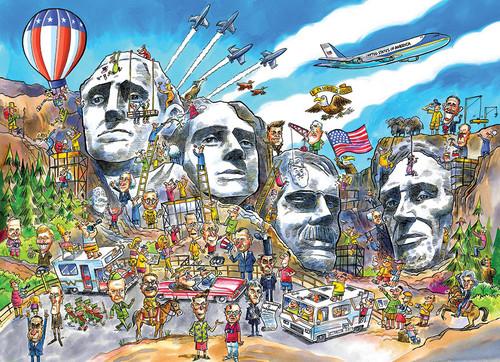 Mount Rushmore Doodletown 1000pc image